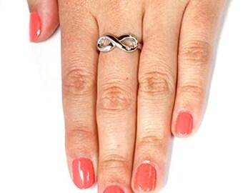 2mm Sterling Silver Infinity Symbol Wedding Band,Rhodium Plated,Engagement,Unisex Ring,Men's Ring,Ladies/Women/Girls' Ring,Standard fit.