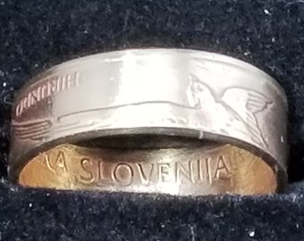 1998 Slovenia 2 tolarja, Barn swallow bird, animal wildlife coin (Perfect for Mothers Day, Valentines Day, Birthday Gift, Heritage Rings)