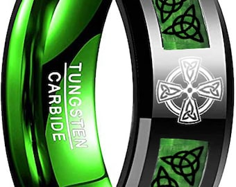 Custom Designed for Jay.  8mm Celtic Ring with Christian Trinity Design (see description for specifics)