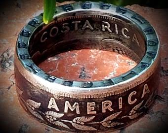 Republica De Costa Rica 2 Colones 1948-1978 - various years. Coin Ring