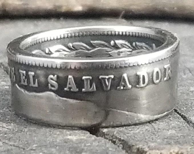 """1984-1985 El Salvador 1 colón Coin Ring (Known Like """"SUEGRITA"""" =  """"Mother In Law"""")"""