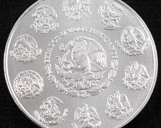 2015 1 oz Silver Mexican Libertad Coin, Symbol of triumph of good over evil!