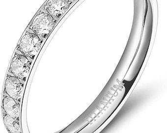 White band ring Size 3-13 US
