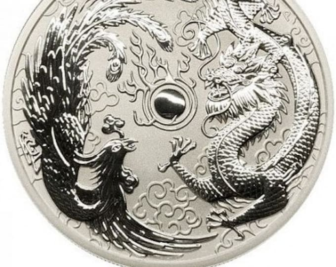 2017 .9999 Pure silver 1oz Dragon & Phoenix Coin (Your choice of Finish)