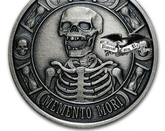 Memento Mori .9999 Pure silver 1oz Coin (Your choice of Finish)