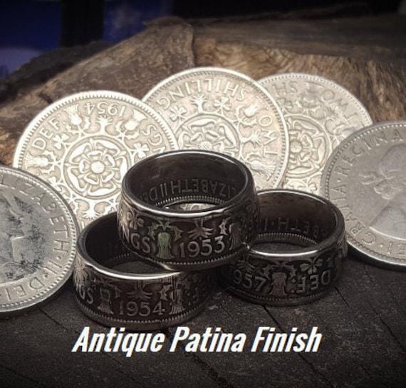 Coin Keyring 1952-1967 Gift Box-Free UK Postage Florin // 2 Shilling Elizabeth