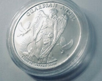 Niue 2017 Guardian Angel One Dollar .999 Silver Coin, Rare Coin.