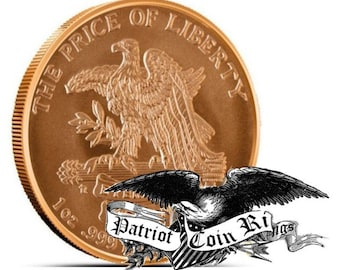 """1776-1976 """"Don't Tread on Me"""" Challenge Coin Round Bullion (Can be Plated in Precious Metal, Gold, Platinum, Silver, Rose Gold and more)."""