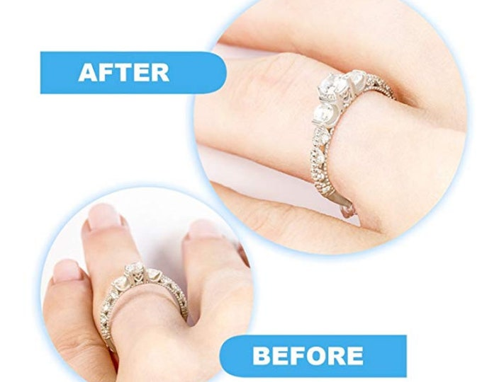 INVISIBLE RING RESIZER (resize loose bands)  Pliable Comfortable for Wedding Bands, Engagement Rings, Anniversary Bands, Promise Rings #770