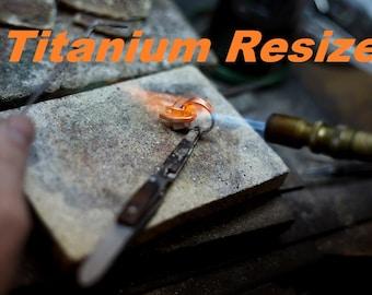 Titanium Ring Resizing