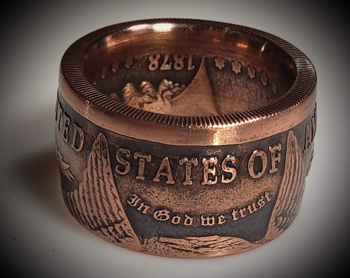 FLASH SALE!  Morgan Dollar Collector Coin .999 Copper Double Sided Hand Made Ring!