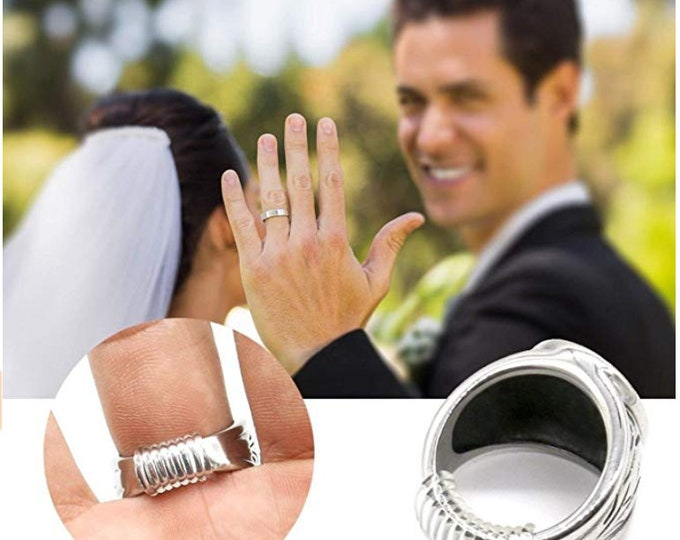 RING RESIZER and Guard (resize loose bands & helps protect against dings / scratches) Wedding Band, Engagement Ring, Anniversary Bands  #770