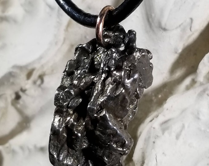 """XLG 30-60gm Authentic Campo Del Cielo on .925 (Genuine Outer Space Pendant) Extra Large Meteorite!  14""""-36"""" STUNNING METEORITE Necklace"""