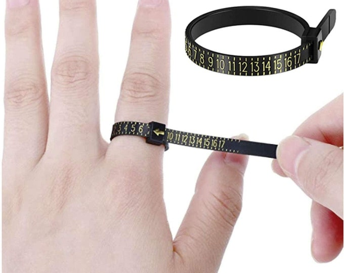 FREE RING SIZER, Reusable & Adjustable Ring Sizer in Full and Half Sizes, 1-17+ (Free International Conversion Chart Included).