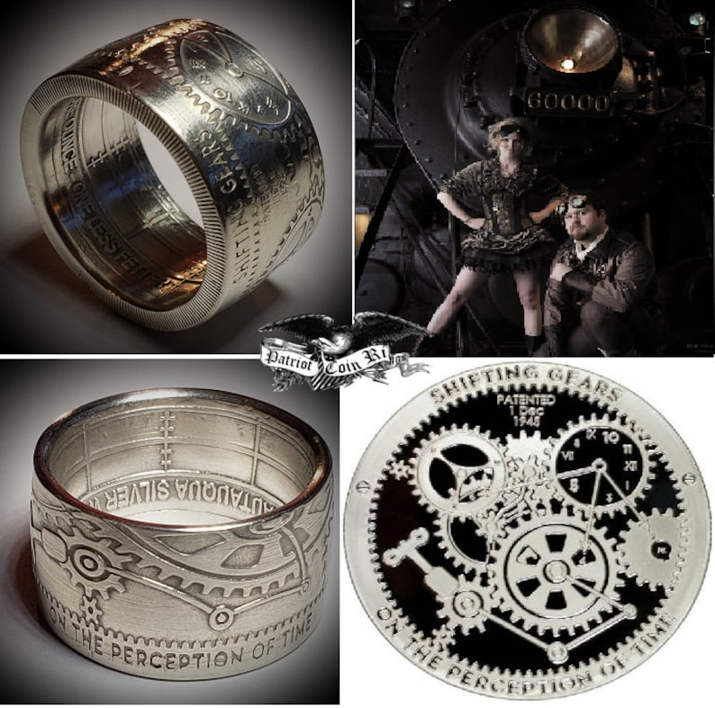 Shifting Gears On Perception Of Time  999 Pure Silver Coin