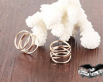 "Reg 99.95  14mm Women's Rose Gold Criss-Cross ""Double X"" Wedding Band Ring (Siren Trois Ring | stacking ring, gold stacking ring | Fashion)"