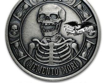 Memento Mori .9999 Pure silver 1oz Coin (Your choice of Finish)