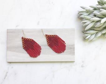 T H E . S A R A // Beaded Fringe Earrings, Art Deco Earrings, Statement Earrings