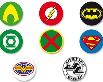 Pin Button Badge Ø38mm Batman DC Comics Bruce Wayne The Dark Knight