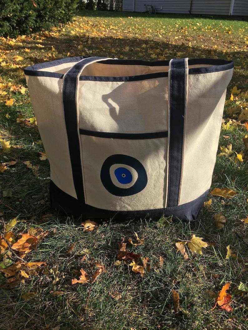 Evil Eye Canvas Tote Bag