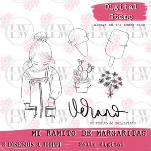 Card Making Mixed Media and Adult Crafts DIGITAL SEAL ? Digital Stamp MARCOS and Flowers for printing and coloring Scrapbooking