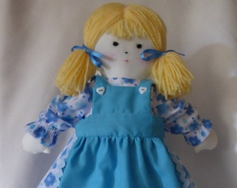 Individually handmade Rag Doll