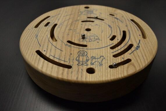 Énigme en bois labyrinthe labyrinthe Eskimo