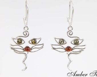 Jewelry & Watches Fine Earrings Balitic Bernstein Ohrringe Eiszapfen Auf Silber 925