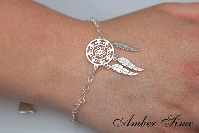 BS0002 Sterling Silver Ag 925 /& Dreamcatcher Bracelet