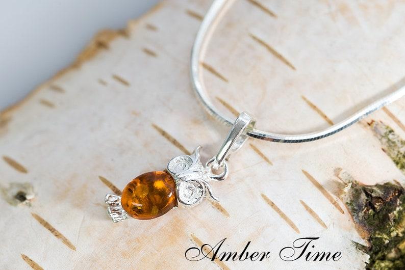 d1dad890eed79f ZB0006 Natural Baltic Amber Owl Pendant & Sterling Silver Ag   Etsy