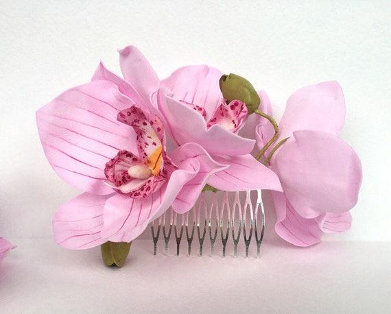 Orchideen Hochzeit Haar Accessoires Echte Blume Zubehor Etsy