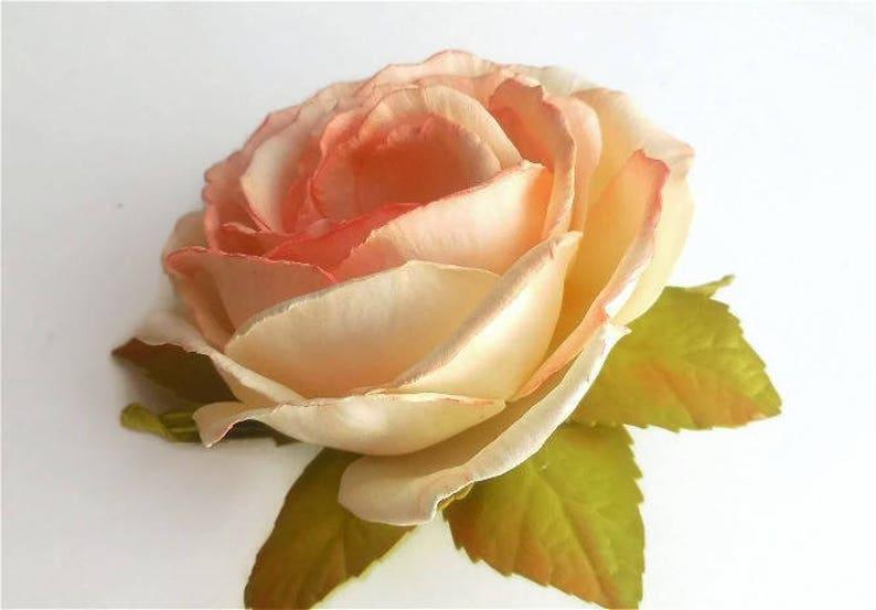 Ivory rose Accessory Bridal hair flower Rose Wedding hair image 1