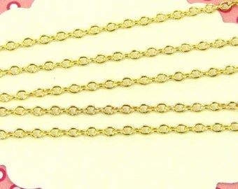 1m golden shackled chain coloured, several use chain, jewellery chain, CHD04