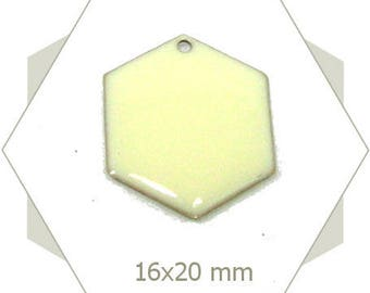 6 sequins hexagons creamy white SEH07 pendants