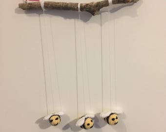 Handmade Crochet Bee Mobile