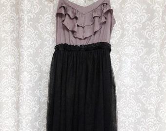 Purple and Black Fairy Dress, Tulle Fairy Dress, Tulle Pixie Dress