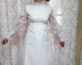 1960s Long Wedding Dresses