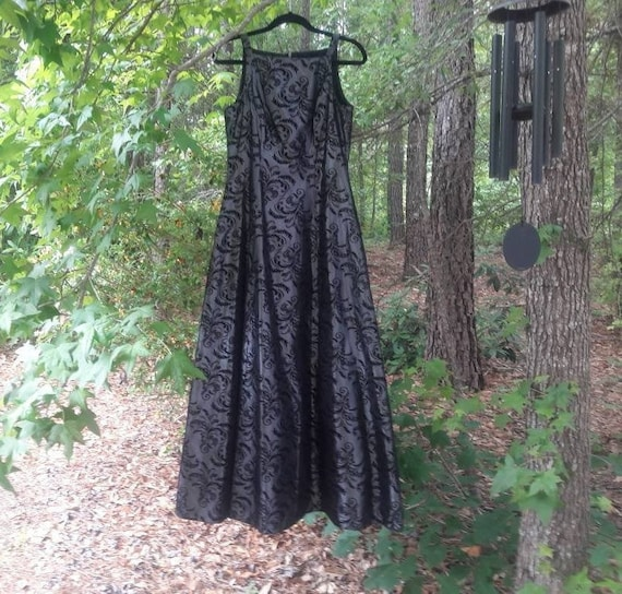 Gray and Black Vintage dress - image 1