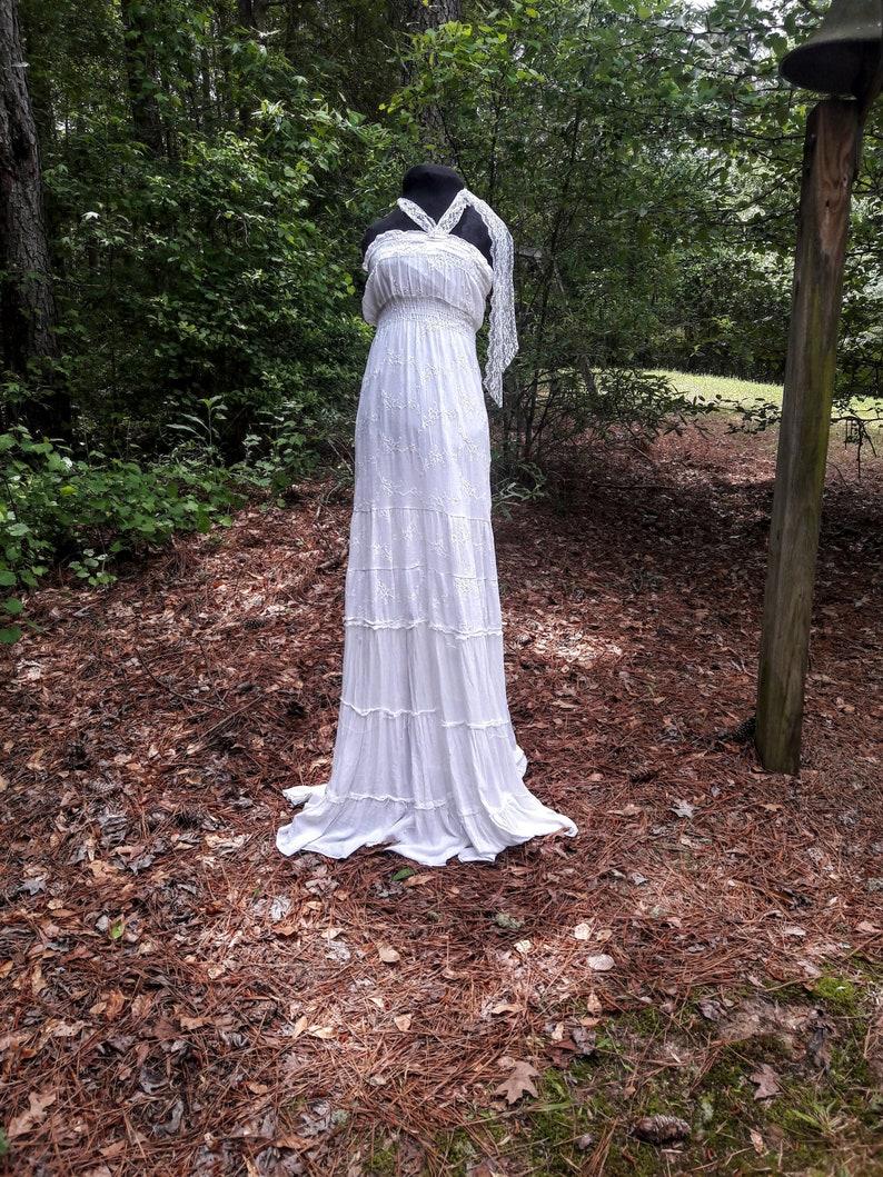 Flowing Beach Dress Hippie Wedding