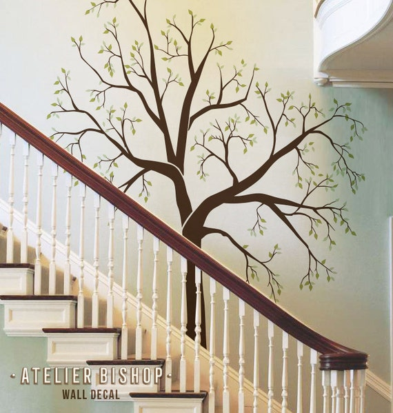 family tree wall sticker for stairs - family tree vinyl wall decal
