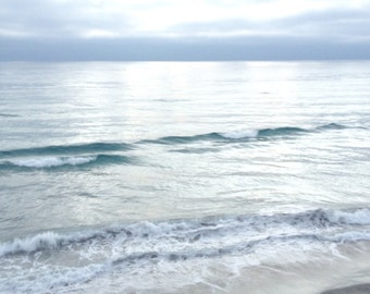 Ocean Photograph, Beach Photograph, Ocean Print, Wave Print, Ocean Art, Gray Wave Print, Ocean Waves Print