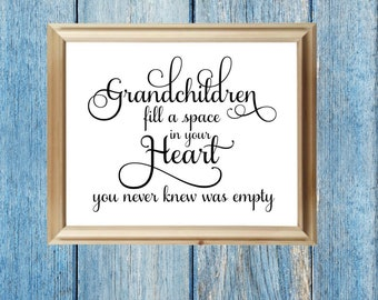 Grandchildren fill a space in your heart SVG