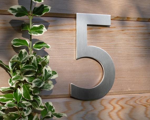 Moderne Hausnummern Edelstahl Gill Sans Schriftart Etsy
