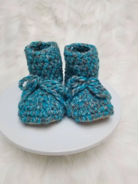 2d1ac6bfe Padraig baby booties   leather sole baby booties   suede baby