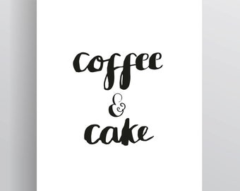 Coffee & Cake Illustrated Print