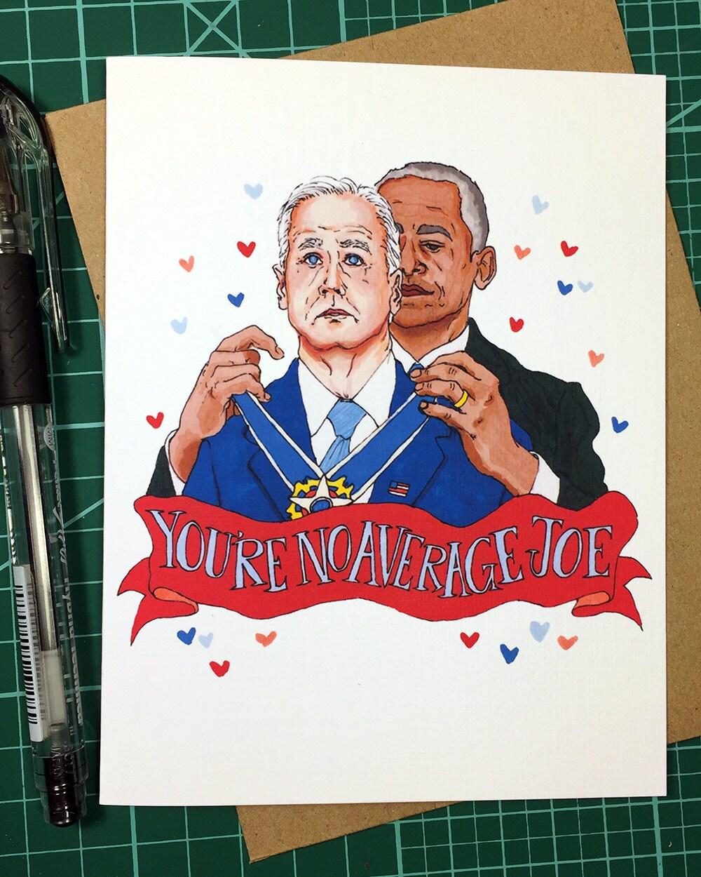 Joe Biden Barack Obama Medal of Freedom Best Friend Birthday | Etsy