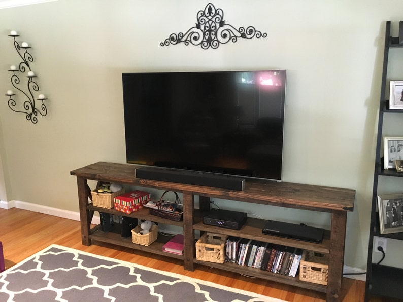 sports shoes 309ff 68815 Rustic Tv stand x console