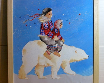 Inuit, original painting