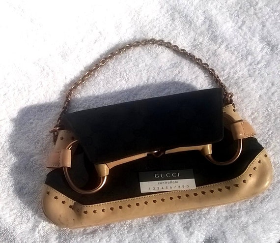e03d775be06 GUCCI Horse Bit bag by Tom Ford in Tan and Black
