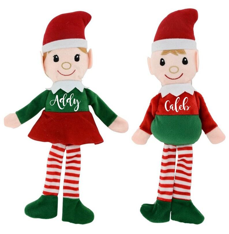 Personalized plush Santa elf doll Christmas elf plush toy image 0